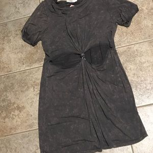 Cutout gray dress